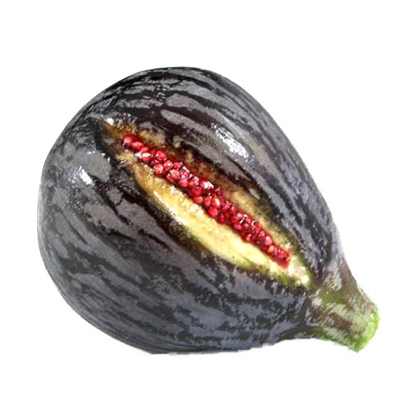 Large Black Fig with Pink Seeds (grande fico nero con semi rosa) image