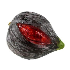 Large Black Fig with Red Slit (grande fico nero con fessura rossa) image